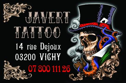 Carte visite javert tattoo vichy tatoueur allier 03