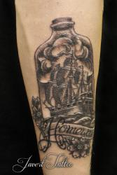 Javert tattoo vichy black and grey 24