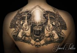 Javert tattoo vichy black and grey 49