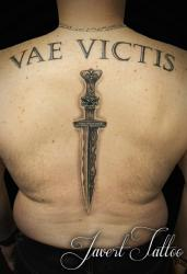 Javert tattoo vichy black and grey 66