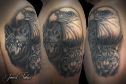 Javert tattoo vichy black and grey 81