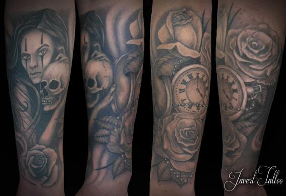 Javert tattoo vichy black and grey 82