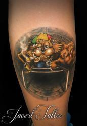Javert tattoo vichy couleurs 57