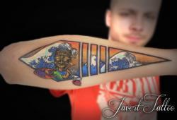 Javert tattoo vichy couleurs 73
